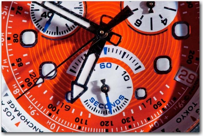 orange Citizen watch